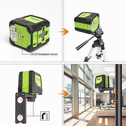 Huepar Green Laser Level DIY - Mute Cross Line Laser Self-Leveling 9011G 98 Ft Cross Green Beam Laser Horizontal and Vertical Lines, Bright Laser with Magnetic Pivoting Base
