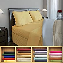 Clara Clark 1800 series Silky Soft 3 piece Bed Sheet Set Twin Size, Camel