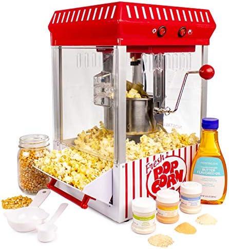 Nostalgia KPM200BUN 2.5-Ounce Kettle Popcorn Maker – Bonus Bundle
