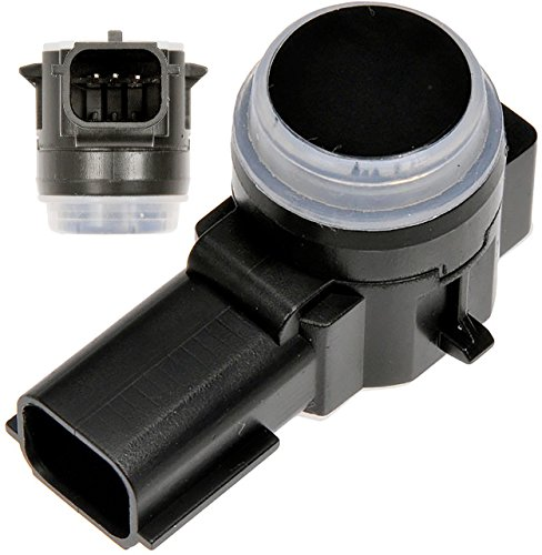 Parking Assist Sensor (APDTY 795159 Parking Aid Assist Backup Reverse PDC Sensor Fits 2014-2016 GM Vehicles (Check Fitment Chart; Black, Paintable; Replaces 23428268))