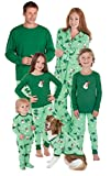 PajamaGram Let It Snow, Man! Matching Family Pajama Set, Green