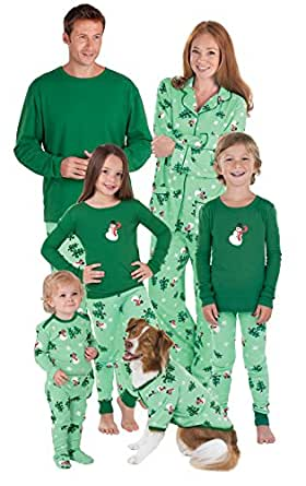 PajamaGram Let It Snow, Man! Matching Family Pajama Set, Men X-Large, Green