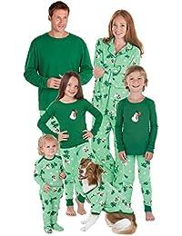 Let It Snow, Man! Matching Family Pajama Set, Green