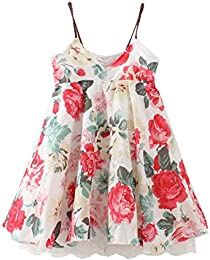 Little Baby Girls Flowers Lace Beach Dress Summer Clothes 1-8Year Old