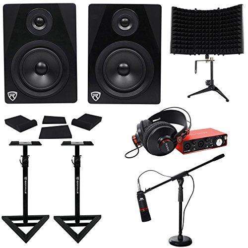 OLO STUDIO 2nd Gen Interface+Mic+Headphones+Monitors+Stands ()