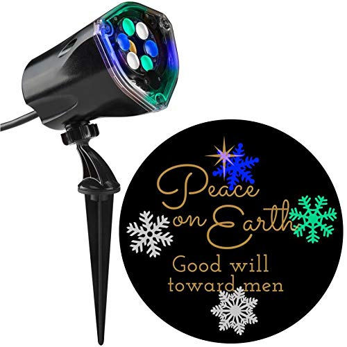 Gemmy Lightshow Projection Peace on Earth Christmas Indoor/O