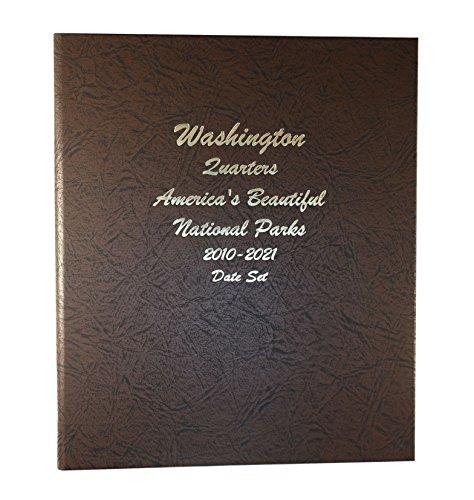 Dansco Us National Parks Quarter Coin Album Date Set 2010   2021  7148