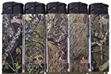 5pc SET LICENSED OFFICIAL MOSSY OAK CAMO REFILLABLE BUTANE LIGHTERS