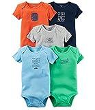 Carter's Baby Boys 5-Pack Mr. Sunshine Bodysuits 3 Months