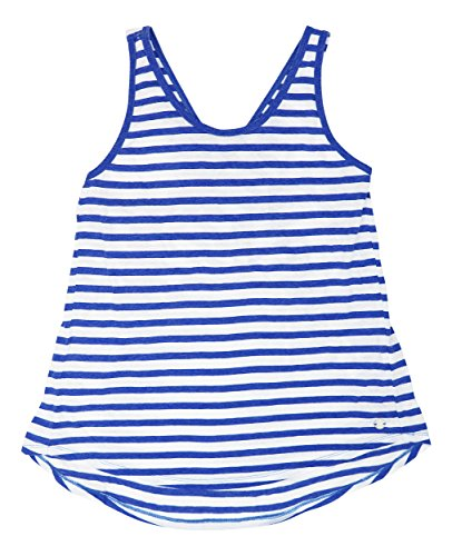 Striped Crossover (Calvin Klein Women's Be Bold Striped Crossover-Back Sapphire M)
