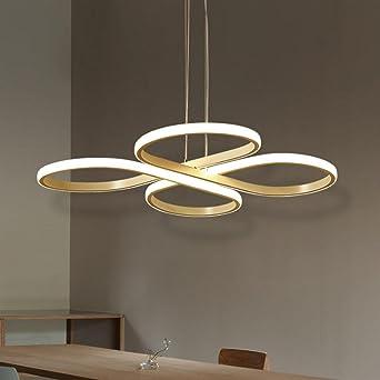 60w Tania Lustre Suspension Design Lumière Led Moderne Réglable MVzpSU