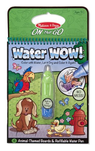 Melissa & Doug Water Wow Coloring Book - Animals
