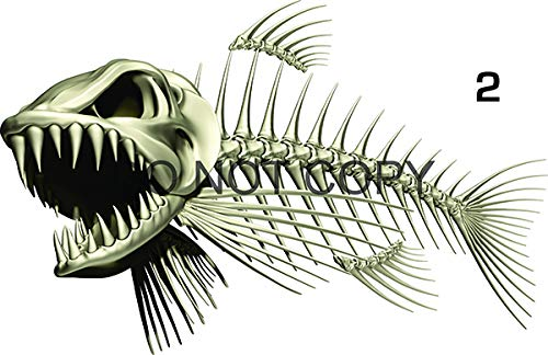 (Bone Fish Beautiful Decal for Your Boat, Vehicle, Etc. Many Sizes and Styles Available 12