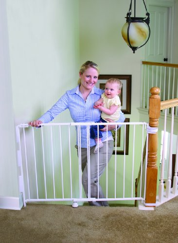 Image of the Regalo Top Of Stairs Expandable Metal Gate, With Mounting Kit, White
