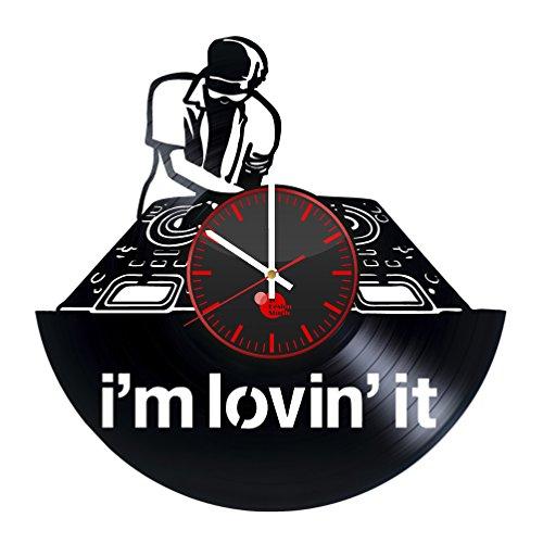 DJ Table Mixer Vinyl Record Wall Clock - Get unique bedroom