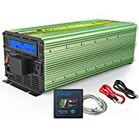 EDECOA Power Inverter Pure Sine Wave 2500W Peak 5000W DC 12V to 120V with LCD display and Remote Controller