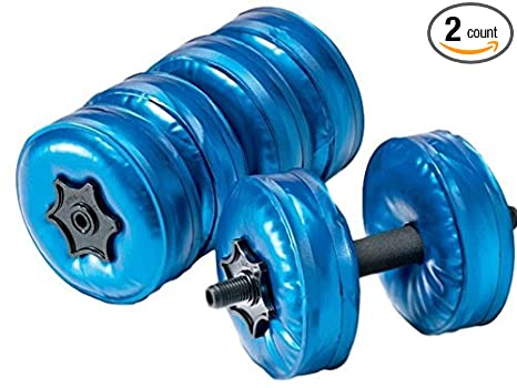 5fdff5d4afb Amazon.com : 1UP Adjustable Dumbbell Travel Hydro Aqua Water Weights ...