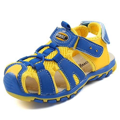 Price comparison product image Boys Girls Outdoor Sport Closed-Toe Sandals Kids Athletic Strap Breathable Mesh Water Sandals Shoes