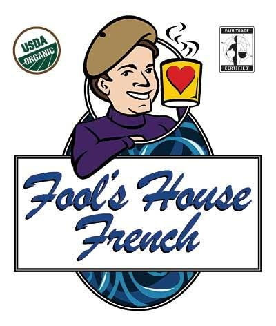 The Coffee Fool Fool's Organic Fair Trade House French Whole Bean Coffee, 10 - Fools House