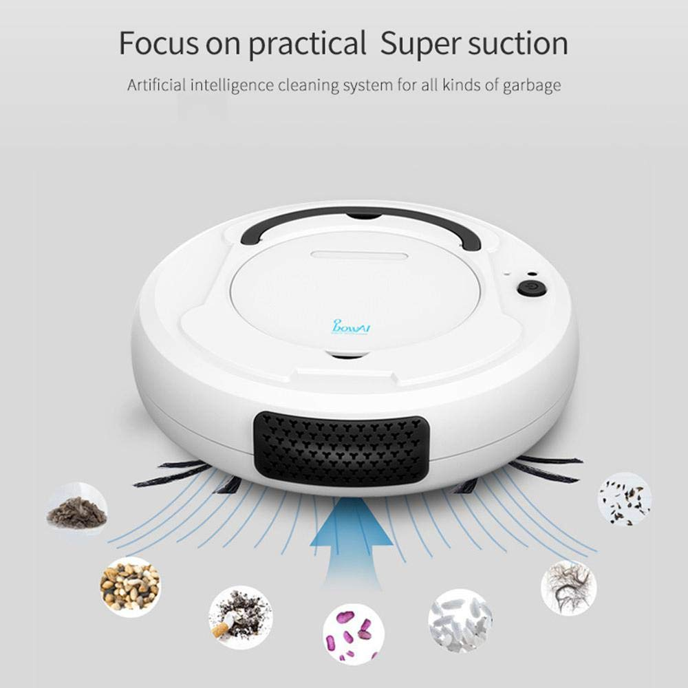 Teepao Mop Vacuum Cleaner Robot HEPA Pet Hair /& Allergies Friendly Robotic Auto Home Cleaning for Clean Carpet Hardwood Floor W//Self Activation and Charge Dock