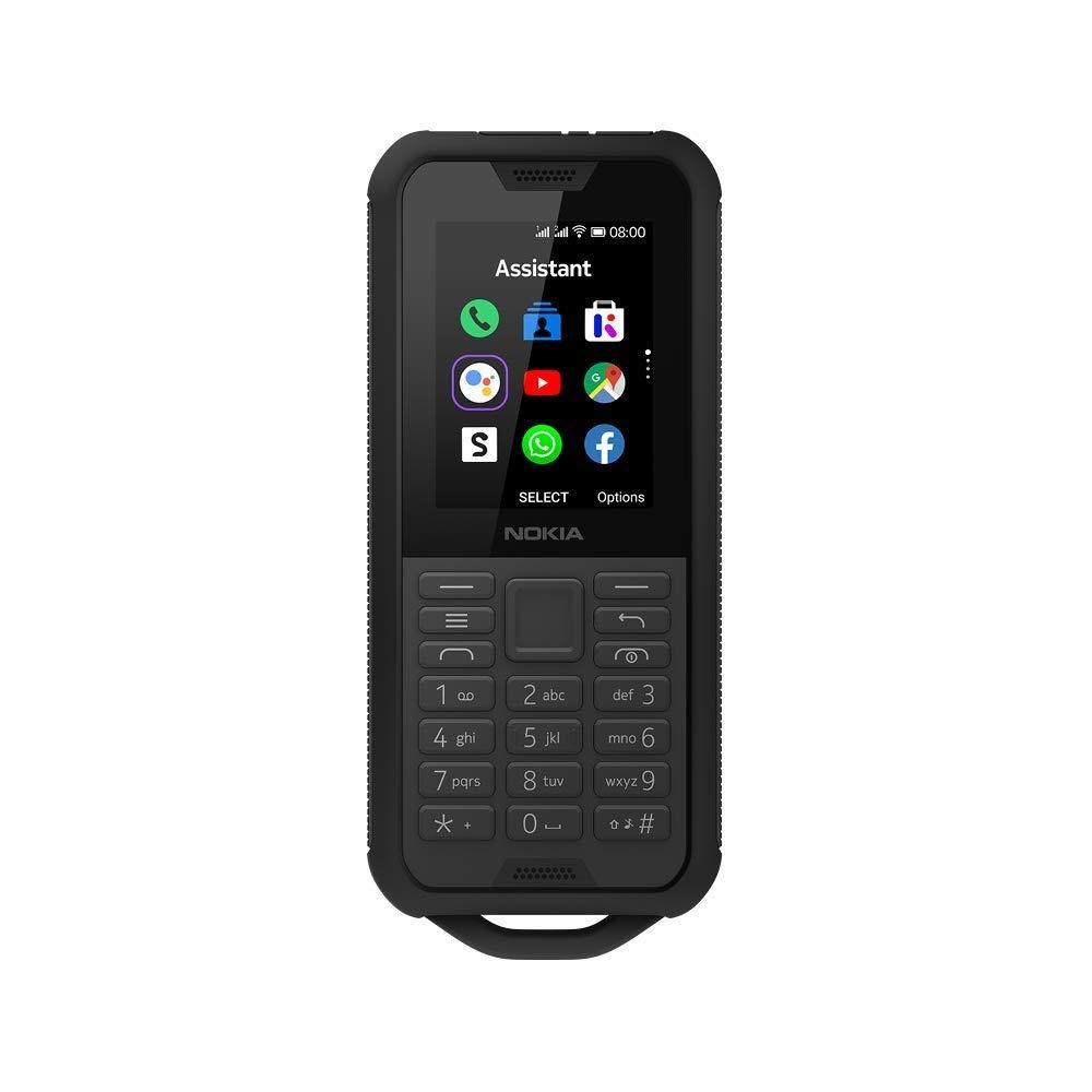 """HMD Global Nokia 800 Tough 6.1 cm (2.4"""") 0.5 GB 4 GB Hybrid Dual SIM Black 2100 mAh - Nokia 800 Tough, 6.1 cm (2.4""""), 0.5 GB, 4 GB, 2 MP, KaiOS, Black"""
