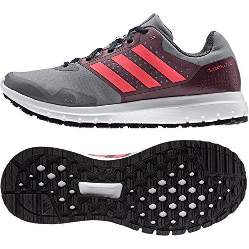 Adidas Kvinners Duramo 7 Atr Løpesko Grå / Rødbrun / Blinke Rødt