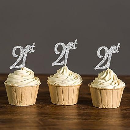 Fantastic Amazon Com Areena Shop Twenty First Cupcake Toppers 21St Birthday Personalised Birthday Cards Arneslily Jamesorg