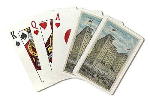 New York, NY - Hotel Commodore and Grand Central Terminal (Playing Card Deck - 52 Card Poker Size with Jokers) - Park York Central New Hotel