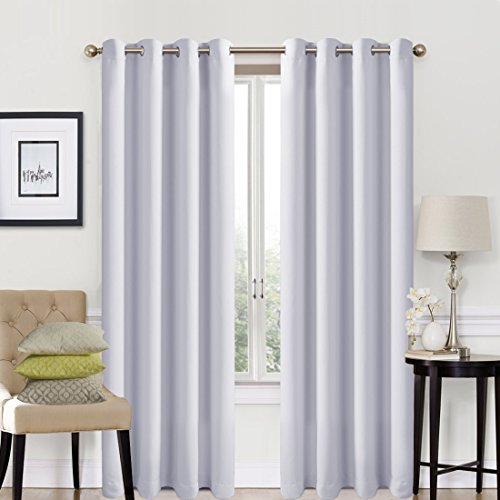 Blackout Window Curtain Panel Grommet Top Drapes 2 Panel Set