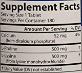 Carlson - Pro-Rite, Free-Form L-Proline & L-Lysine, Cardiovascular Health, Joint Support & Collagen Formation, 180 tablets