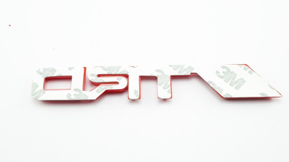 3D TRD Red Plastic Logo Emblem Sticker Decal Badge Trunk