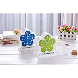 1pcs Plastic Pen Holder Bell House Type Flower Pattern Living Room Pendulum Fashion Gifts Home Decoration 13.4 4 13.1cm