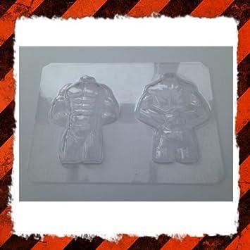 3d muscular man torso molde de día de San Valentín chocolate, gelatina y hielo): Amazon.es: Hogar