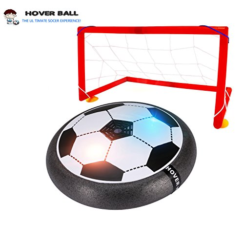 Vesena Kids Toys Soccer Goal Set Hover Ball Football Air Power Training Ball Indoor Outdoor Disk Game With LED Lights. (Deluxe Edition - with 2 Scoccer goals)