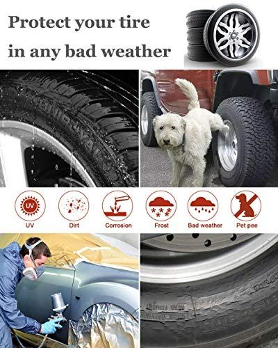HONCENMAX Juego de 4 Coches Cubiertas Neumáticos - Impermeable Prueba Polvo Protectores Neumáticos - para RV Jeep SUV Auto Truck Camper Trailer - Diámetros ...