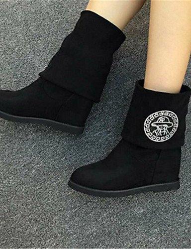 Satén Redonda Punta Elástico Xzz Eu39 Cn39 Casual Black Mujer De us8 Uk6 Botas Tacón Negro Zapatos Bajo 4wqzYWq1X