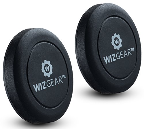 WizGear Universal Flat Stick On (2 Pack) Dashboard Magnetic Car Mount Holder for Cell Phones and Mini Tablets with Fast Swift-Snap Technology – Extra Slim