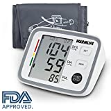 Warmlife Automatic Digital Upper Arm Blood Pressure Monitor with Cuff, FDA Approved (White)