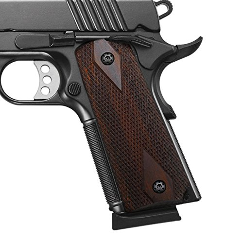 Cool Hand 1911 Rosewood Grips, Screws Included, Full Size(Government/Commander), Checker Diamond Cut, Ambi Safety Cut, H1-DC-BW