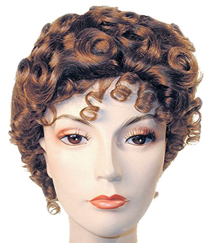 UHC Women's Gibson Girl Curly Wig Deluxe Adult Halloween Costume Accessory