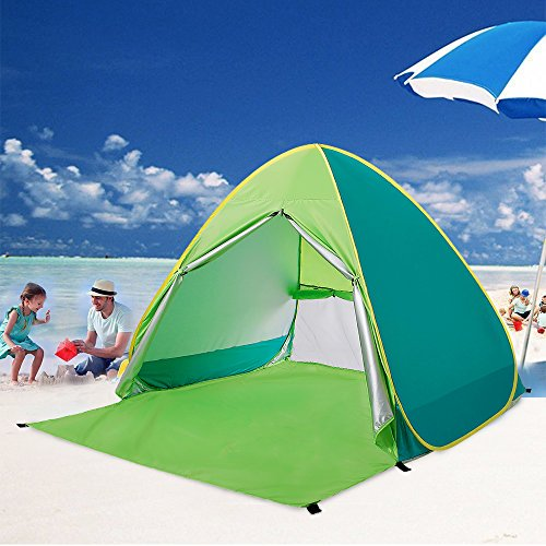 BATTOP Automatic Pop Up Beach Tent Sun Shelter Cabana 2-3 Person 90% UV Protection Beach Shade for Outdoor Activities & BATTOP Automatic Pop Up Beach Tent Sun Shelter Cabana 2-3 Person ...