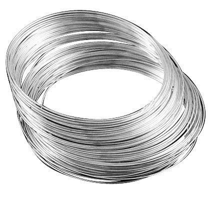 DIY Jewelry Making: 50 circles (approx) Memory Wire, Steel, Silver on