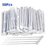 100 Assorted Stainless Steel Disposable Tattoo Needles