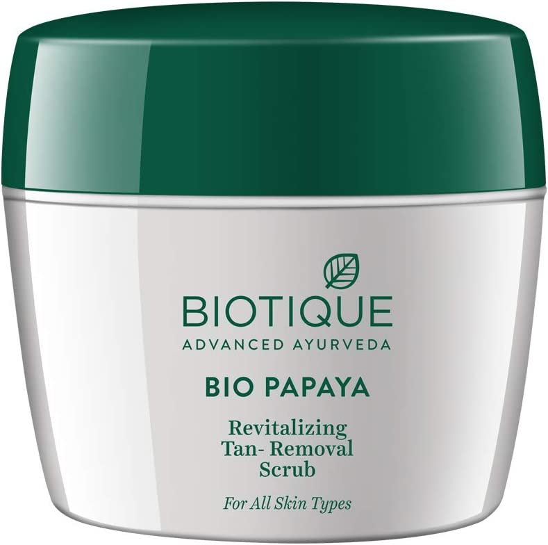 Biotique Papaya Revitalizing Tan Removal Scrub 235gm I All Skin Type