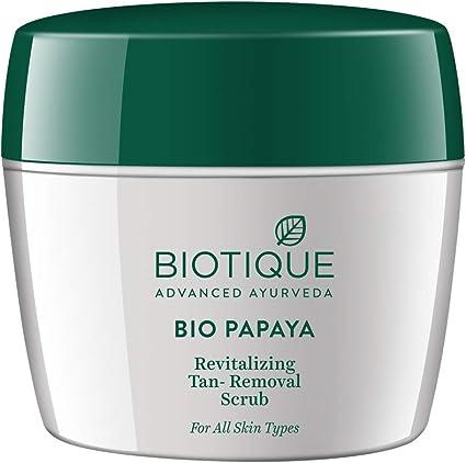 Amazon Com Biotique Papaya Revitalizing Tan Removal Scrub 235gm I All Skin Type Health Personal Care