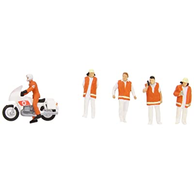 Preiser 10100 Emergency Personnel Emergency Doctors w/Motorcycle HO Model Figure: Toys & Games