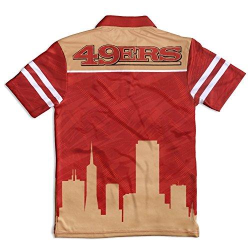 San Francisco 49ers klew Forever Collectibles Thematische Polo Shirt Größe M-XXL