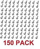 Peg Board Hook Kit Garage Tool Storage Craft Hooks Pegboard J Hook Style-BLACK- Plastic (150)