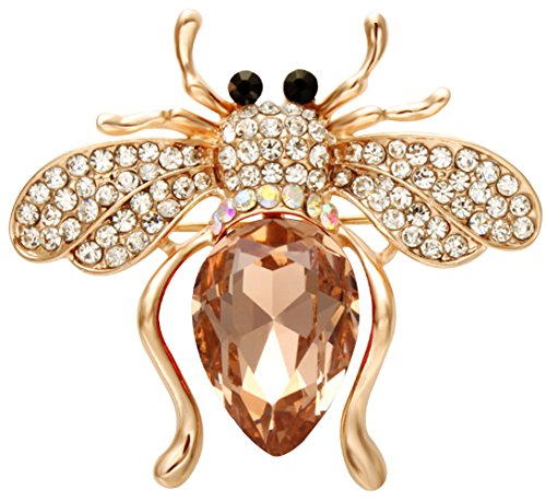 SENFAI Six Colors Lovely Alloy Rhinestone Bee Animal Brooch Jewelry Brooches Pins (3GC)
