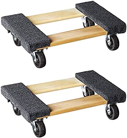 Amazon Com Mover S Dolly 1000 Lbs Weight Capacity 18 L X 12 1 4 W Pack Of 2 Home Improvement